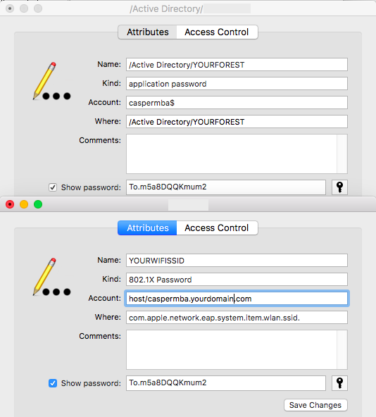 Machine Authentication on macOS / OS X in Active Directory